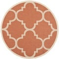 Safavieh Indoor/ Outdoor Courtyard Terracotta Rug (6'7 Round)