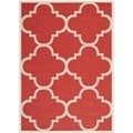 Safavieh Indoor/ Outdoor Courtyard Red Rug (4' x 5'7)