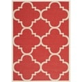 Safavieh Indoor/ Outdoor Courtyard Red Area Rug (4' x 5'7)