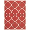 Safavieh Indoor/ Outdoor Courtyard Red Rug (8' x 11')