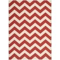 Safavieh Indoor/ Outdoor Courtyard Red Rug (5'3 x 7'7)