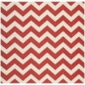 Safavieh Indoor/ Outdoor Courtyard Red Rug (6'7 Square)