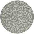 Safavieh Indoor/ Outdoor Courtyard Anthracite/ Light Grey Rug (6'7 Round)