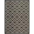 Safavieh Polypropylene Indoor/ Outdoor Courtyard Black/ Beige Rug (5'3 x 7'7)