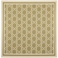Safavieh Indoor/ Outdoor Courtyard Green/ Beige Power Loomed Rug (7'10 Square)