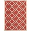 Safavieh Indoor/ Outdoor Courtyard Red/ Bone Polypropylene Rug (8' x 11')