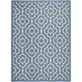 Safavieh Indoor/ Outdoor Courtyard Blue/ Beige Area Rug (8' x 11')