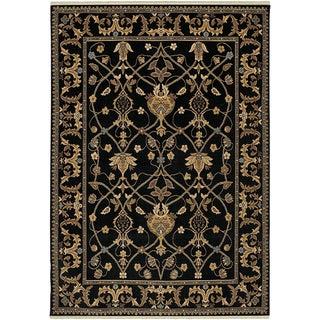 Karastan English Manor William Morris Black Rug (8' x 10'5)