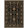 Karastan English Manor William Morris Black Rug (8' x 10'5)