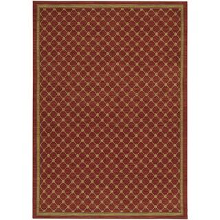 Karastan English Manor Coventry Trellis Red Rug (8' x 10'5)
