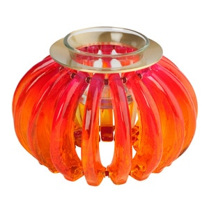 Lalo Treasures Feeling Good Orange 'Pumpkin' Candle Holder (Bulgaria)