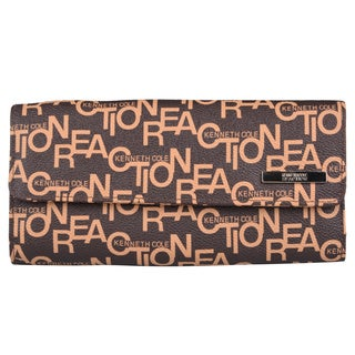 Kenneth Cole Reaction Women's Logo Print Clutch Wallet