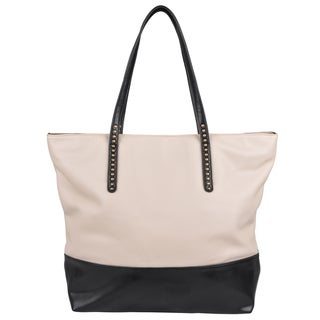 Journee Collection Beige Oversized Tote Bag