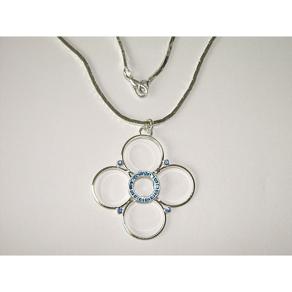 Detti Originals Blue Crystal Floral Fashion Necklace