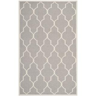 Safavieh Handwoven Moroccan Dhurrie Dark Gray Wool Area Rug (9' x 12')