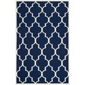 Safavieh Handwoven Moroccan Reversible Dhurrie Geometric Navy Wool Rug (8' x 10')