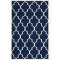 Safavieh Handwoven Moroccan Dhurrie Transitional Navy Wool Rug (6' x 9')