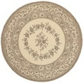 Safavieh Indoor/ Outdoor Courtyard Cream/ Brown Rug (6'7 Round)