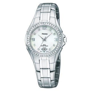 Pulsar Women's PXT797 Mother Of Pearl Dial Watch