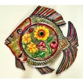 Recycled Steel Drum Painted Fish Platter (Haiti)