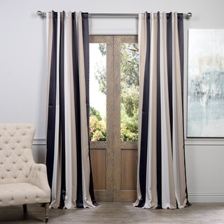 EFF Georgetown Stripe Blackout Curtain Panel