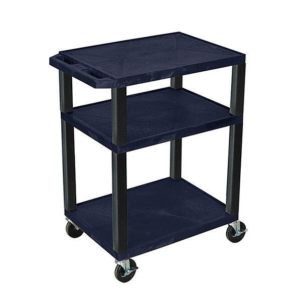 Offex Navy Mobile 34-inch Tuffy AV Cart