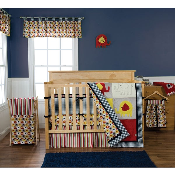 Trend Lab Elephant Parade 5-piece Crib Bedding Set