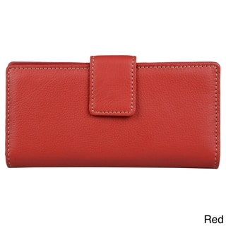 Mundi Women's Genuine Leather Checkbook Clutch Wallet