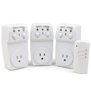 Wireless Remote Control Outlet Switch Socket (Pack of 3)