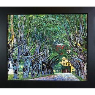 Gustav Klimt 'Avenue in Schloss Kammer Park' Hand Painted Framed Canvas Art