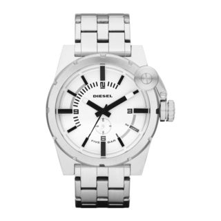 Diesel Men's White Dial Stainless Steel Watch
