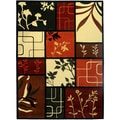 Hand Carved Multicolor Floral Natures Moments Area Rug (5'3 x 7'2)