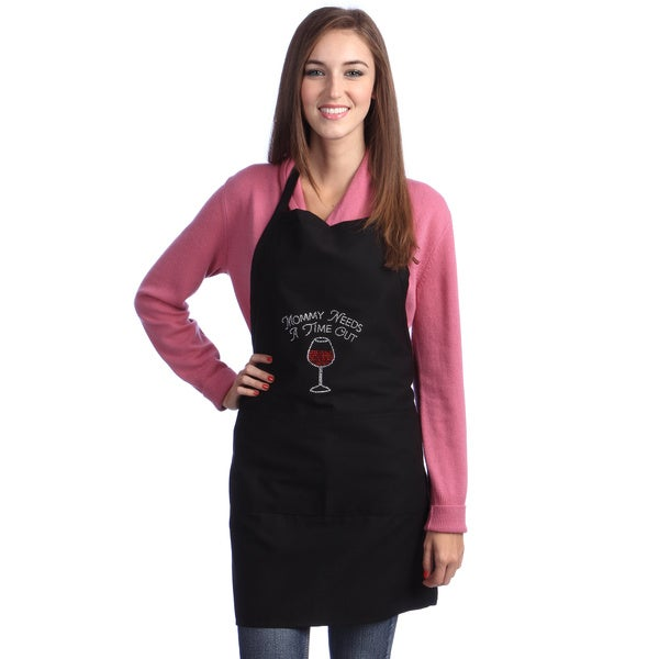 Mommy Needs a Time Out Rhinestone Apron