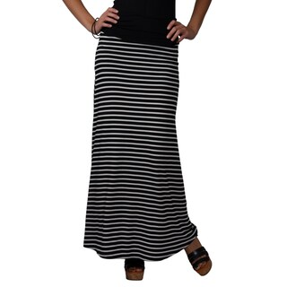 Journee Collection Women's Cinched Stretch Maxi Skirt