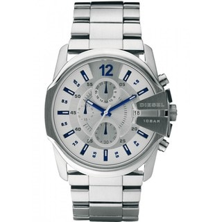 Diesel Men's Silvertone Dial Chronograph Watch