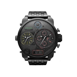Diesel Men's 'Mr. Daddy' Black Multi-function Watch