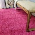 Soft Shag Pink Area Rug (6'7 x 9'3)