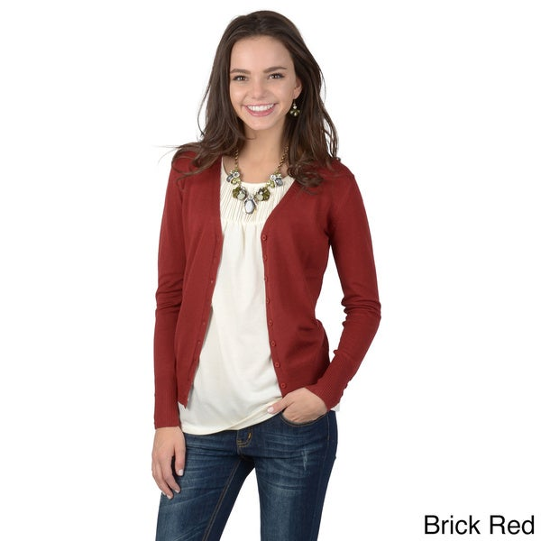 Journee Collection Juniors Long-sleeve Button-up Cardigan