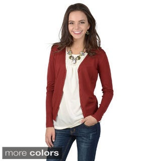 Journee Juniors Long-sleeve Button-up Cardigan