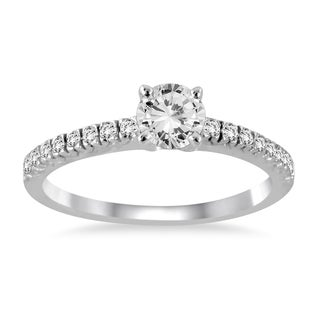 14k White Gold 1ct TDW Diamond Engagement Ring (I-J, I2-I3)