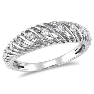 M by Miadora Sterling Silver 1/4ct TDW Round-cut Diamond Ring (H-I, I2-I3)