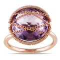 Miadora 14k Rose Goldplated Silver 7 1/2ct TGW Amethyst Cocktail Ring