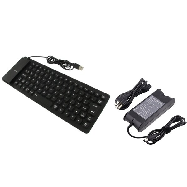 INSTEN Foldable USB Keyboard/ Charger for Dell PA-10/ Inspiron 1150