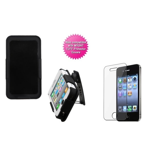 INSTEN Clear Screen Protector/ Holster for Apple iPhone 4/ 4S