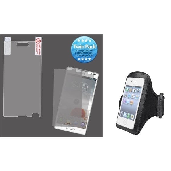 INSTEN Black Armband/ Screen Protector for LG P769 Optimus L9