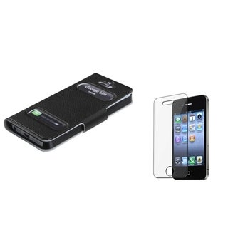 BasAcc Screen Protector/ MyJacket Wallet Case for Apple iPhone 5/ 5S