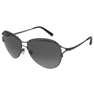 Valentino Women's V103 Dark Gunmetal-and-Gray Aviator Sunglasses