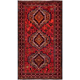 Afghan Hand-knotted Tribal Balouchi Red/ Rust Wool Rug (3'8 x 6'6)