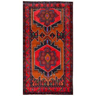 Afghan Hand-knotted Tribal Balouchi Red/ Rust Wool Rug (3'7 x 6'7)