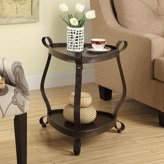 Bronze Veneer Top Accent Table